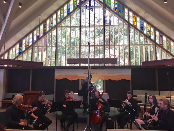 Cal Arte Ensemble performing Schubert Octet at Ladera