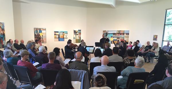 Cal Arte Ensemble performing Schubert Octet at Triton Museum of Art